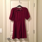Red key-hole dress