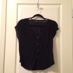 Black button-down tee