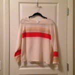 Soft beige coral striped blouse
