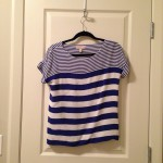 Blue-striped tee